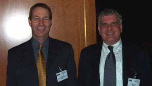 ATMIA's famous International Director Mike Lee (left) and ATMIA president Lyle Elias.