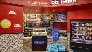 "What sets Schlotzsky's apart from competitors,Roddy said, is serving sandwiches on made-from-scratch, round buns, as opposed to the subs served in most restaurants. Those round buns inspired the chain's design element and new tagline, ""All round, Lotz better."""