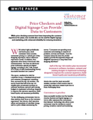 Price Checkers and Digital Signage Can Provide Data to Customers