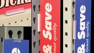 Highlight categories and promotions with new magnetic supergrip® sign holders