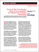 Proof-of-Play Provides the Basis of Accountability for Digital Out-of-Home Advertising