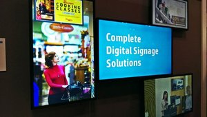 HP showcased new displays for digital signage at this year's show.