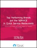 Top Performing Brands put the SERVICE in Quick Service Restaurants