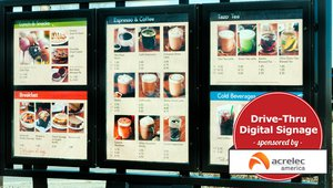 One display to go please: Digital signage at the drive thru