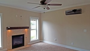 The home's four wall-mounted ductless mini-split heat pumps provide zoned heating and cooling.