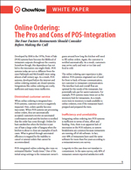 Online Ordering: The Pros and Cons of POS Integration
