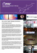 Dynamax reports successful digital signage installation in Norwegian Airport