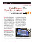 Digital Signage: Three Keys to Uptime