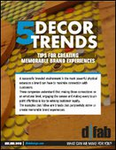 5 Decor Trends - Tips for Creating Memorable Brand Experiences