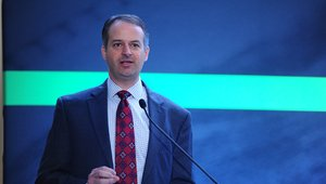 <p>Tom Harper, CEO of Networld Media Group, welcomed attendees in an opening address. The summit was jointly organized by Networld and the Electronic Funds Transfer Association.</p>