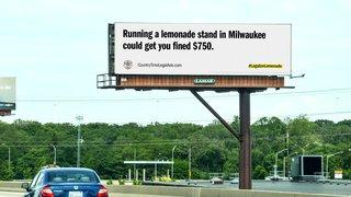 DOOH fights to make lemonade stands legal