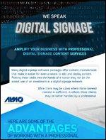 [INFOGRAPHIC] We Speak Digital Signage