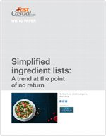 Simplified ingredient lists: A trend at the point of no return