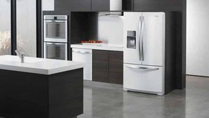 Whirlpool's white ice finish is an alternative to stainless steel or basic white.