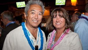 Steven Kishi, CEO of Super Mex, and Malinda McGurk of Red Book Solutions.