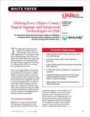 Making Every Glance Count: Digital Signage and Integrated Technologies in QSR