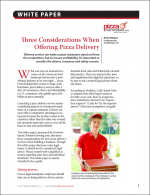 Three Considerations when Offering Pizza Delivery