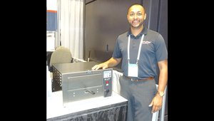 Larry Hayes of Quik N Crispy presents a greaseless fryer that has no need for a ventilator.