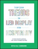 Top 2019 Trends in LED Display for Hospitality