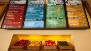 The new design features a digital menu board that also showcases images of select menu items. The menu boards were added to help prepare the company and its franchisees for the addition of nutritional content on menus.