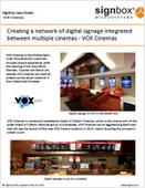 Creating a network of digital signage integrated between multiple cinemas - VOX Cinemas