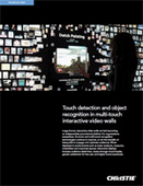 Touch detection and object recognition in multi-touch interactive video walls