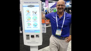Aaron Taylor of BrightSign presents the modular self-order kiosk.