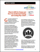 What is LEED for Homes and How Can Geothermal Heating and Cooling Play a Role?