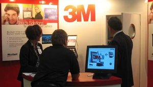 3M was on hand to display its line of ClearTouch monitor solutions.