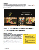 Digital Menu Systems Driving Sales at UK McDonald's Stores