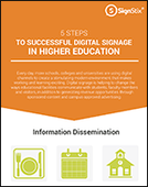 5 Steps To Successful Digital Signage in Higher Education