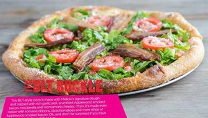 Mellow Mushroom's new BLT Buckle, a BLT-style pizza.