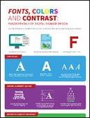 Fonts, Colors and Contrast: Fundamentals of Digital Signage Design