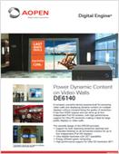 Power Dynamic Content on Video Walls: DE6140