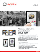 All-in-one Interactive Touch Solution: eTILE 19M