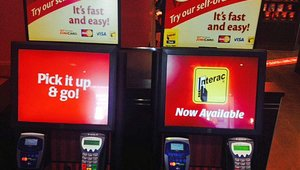 Tim Hortons accepts NFC payments at its to-go kiosk as well.