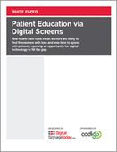 Patient Education via Digital Screens