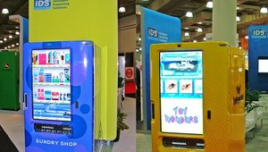 And iDS featured a variety of interactive kiosks and vending machines.