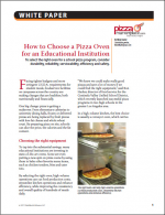 How to Choose a Pizza Oven for an Educational Institution