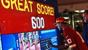 Washington Redskins kick off the season with digital signage Virtual Field Goal Challenge