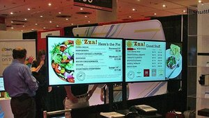 Shuttle was one of several companies showcasing digital menu boards.