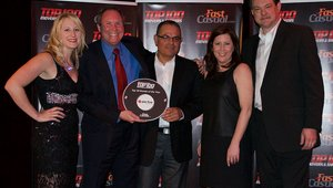 "<p><span style=""color: rgb(0, 0, 0);"">Randy Gier, CEO of Pie Five, collects the brand's award for the No. 3 brand, along wtih the chain's Jamie Zimmerman and Mark Zepeda. Cherryh Butler (far left) and Jeremy Dobrowolski (far right) are also pictured.</span></p>"