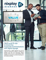 Top 6 Quick Fix Tips to streamline Corporate Communications with Digital Signage
