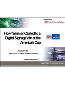 Webinar: How Teamwork Sailed to a Digital Signage Win at the America's Cup