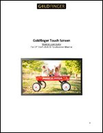 """19"""" Touch ScreenLED/LCD Monitor 16x9 User Guide Manual"""