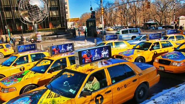 5 for 5: Taxicab digital signage and video walls, menu