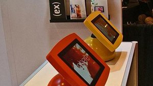 Armodilo tablet kiosks come in a variety of colors.