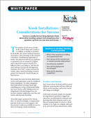 Kiosk Installations: Considerations for Success