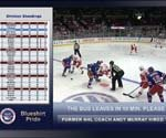 NY Rangers on a digital signage power play