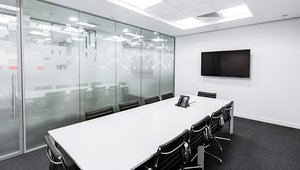 Large-screen digital signage pumps up corporate meetings